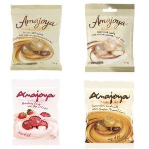 Amajoya Candy Butterscotch 125g chocolate latte fruit strawberry liquorice yoghurt white