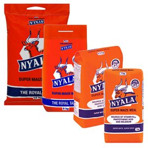 Nyala Super Maize Meal 5kg 2kg 10kg 2.5kg 1kg