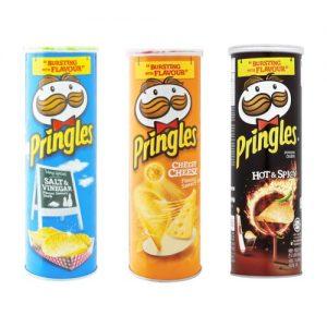 Pringles Potato Chips Salt Vinegar 110g cheesy cheese spicy hot original bbq original sour cream
