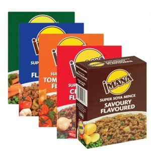 Imana Soya Mince Assrted 100g CHILLI BEEF MUTTON PEPPERONI RICH OXTAIL SAVOURY