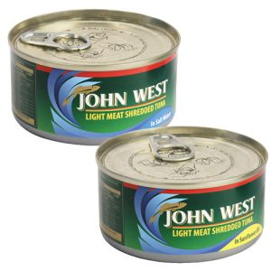 John West Tuna Shredded Assorted 170g brine oil