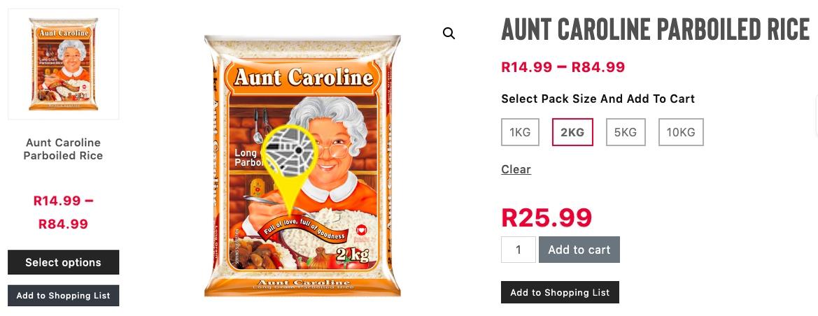 aunt caroline par boiled rice kwanu westville