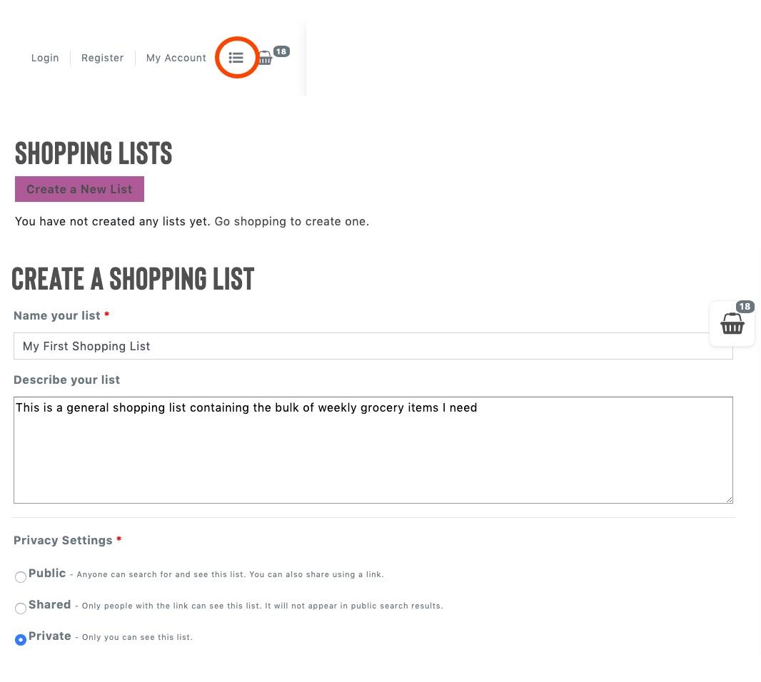 kwanu shopping list